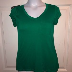 Cable & Gauge Silk Green Vneck Small:43